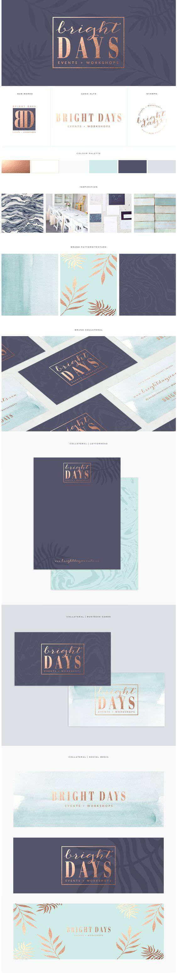 Bright Days brand board by Brand Me Beautiful